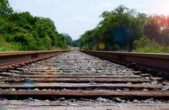 απόσταση που οδηγεί από το τραίνο διαδρομών στοκ εικόνα