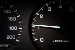Απόσταση σε μίλια αυτοκινήτων στοκ φωτογραφίες με δικαίωμα ελεύθερης χρήσης