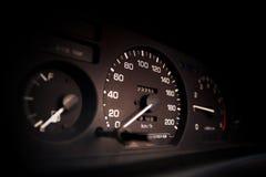 Απόσταση σε μίλια αυτοκινήτων στοκ φωτογραφία με δικαίωμα ελεύθερης χρήσης