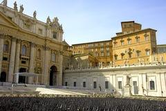 Απόστολοι καθεδρικών ναών του τετραγωνικού μπαρόκ Peter αγαλμάτων της Ρώμης Άγιος Peter ofSt Στοκ Φωτογραφίες