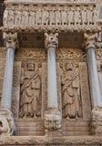 Απόστολοι Bartholomew και James τα μεγάλα αγάλματα (1190). Arles, Στοκ Εικόνα