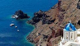 Απότομη ακτή Santorini Στοκ Φωτογραφία