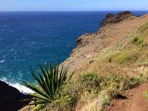 Απότομοι βράχοι ακτών NA Pali Kauai στο νησί, Χαβάη - ίχνος Kalalau Στοκ εικόνες με δικαίωμα ελεύθερης χρήσης