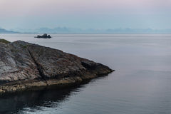 Απότομοι βράχοι βραδιού Στοκ Εικόνες