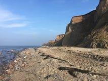 Απότομοι βράχοι κοντά στη θάλασσα της Βαλτικής Heiligenhafen Στοκ φωτογραφία με δικαίωμα ελεύθερης χρήσης