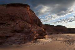 Απότομοι βράχοι κόκκινου ψαμμίτη Στοκ εικόνες με δικαίωμα ελεύθερης χρήσης