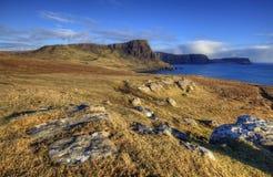 απότομοι βράχοι Σκωτία στοκ εικόνες