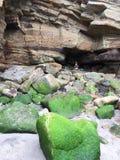 Απότομοι βράχοι & σπηλιές Whitby Στοκ Φωτογραφίες