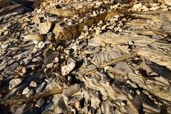 Απότομοι βράχοι στην ακτή σε Paldiski Στοκ Φωτογραφία