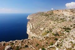 Απότομοι βράχοι στη Μάλτα Στοκ Εικόνες