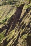 Απότομοι βράχοι στον ποταμό Pastaza σε Banos, Ισημερινός Στοκ Εικόνες