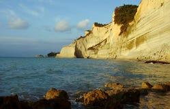 Απότομοι βράχοι στο νησί της Κέρκυρας Στοκ φωτογραφίες με δικαίωμα ελεύθερης χρήσης