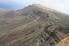 Απότομοι βράχοι στο Lanzarote Στοκ Εικόνα