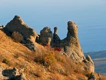 Απότομοι βράχοι της Κριμαίας Στοκ εικόνα με δικαίωμα ελεύθερης χρήσης