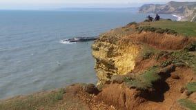 Απότομοι βράχοι του Dorset, άποψη στην ηλιόλουστη ημέρα Στοκ Εικόνα