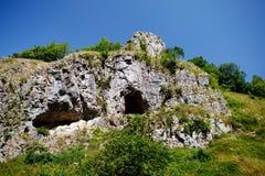 Απότομοι βράχοι φαραγγιών τυριού Cheddar σε Somerset, Αγγλία Στοκ εικόνα με δικαίωμα ελεύθερης χρήσης