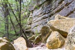 Απότομοι βράχοι ψαμμίτη Στοκ Φωτογραφία