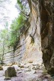Απότομοι βράχοι ψαμμίτη Στοκ εικόνα με δικαίωμα ελεύθερης χρήσης