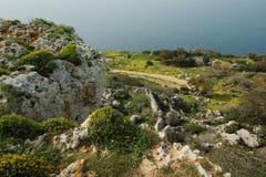 Απότομοι βράχοι Dingli στη Μάλτα Στοκ φωτογραφία με δικαίωμα ελεύθερης χρήσης