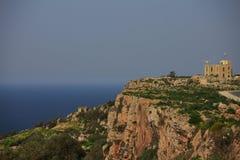 Απότομοι βράχοι Dingli στη Μάλτα Στοκ Φωτογραφία