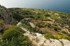 Απότομοι βράχοι Dingli στη Μάλτα Στοκ εικόνα με δικαίωμα ελεύθερης χρήσης