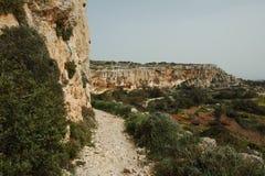 Απότομοι βράχοι Dingli στη Μάλτα Στοκ Εικόνες