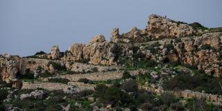 Απότομοι βράχοι Dingli στη Μάλτα Στοκ Εικόνα