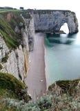 Απότομοι βράχοι Etretat - της Νορμανδίας, Γαλλία στοκ φωτογραφία με δικαίωμα ελεύθερης χρήσης