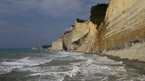 Απότομοι βράχοι Peroulades, Κέρκυρα, Ελλάδα Στοκ Εικόνες