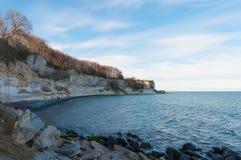 Απότομοι βράχοι Stevns στη Δανία στοκ φωτογραφίες με δικαίωμα ελεύθερης χρήσης