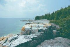 Απότομοι βράχοι Tobermory Στοκ Φωτογραφία