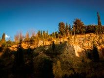 Απότομος απότομος βράχος προσώπου βράχου Στοκ Φωτογραφία