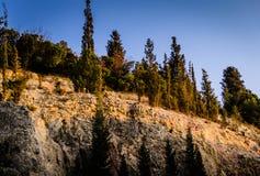 Απότομος απότομος βράχος προσώπου βράχου Στοκ Εικόνα