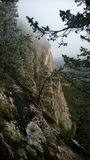 Απότομος βράχος βουνών Στοκ φωτογραφία με δικαίωμα ελεύθερης χρήσης