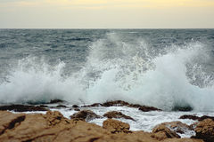 Απότομος βράχος θάλασσας Στοκ εικόνες με δικαίωμα ελεύθερης χρήσης