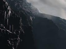 απότομος βράχος κάστρων Στοκ φωτογραφία με δικαίωμα ελεύθερης χρήσης