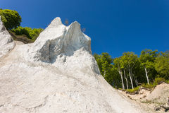 Απότομος βράχος κιμωλίας στο νησί Ruegen Στοκ εικόνα με δικαίωμα ελεύθερης χρήσης