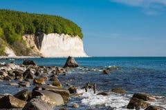 Απότομος βράχος κιμωλίας στο νησί Ruegen Στοκ φωτογραφίες με δικαίωμα ελεύθερης χρήσης