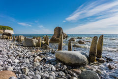 Απότομος βράχος κιμωλίας στο νησί Ruegen Στοκ φωτογραφία με δικαίωμα ελεύθερης χρήσης