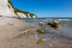 Απότομος βράχος κιμωλίας στο νησί Ruegen Στοκ Εικόνα