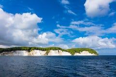 Απότομος βράχος κιμωλίας στο νησί Ruegen Στοκ Φωτογραφίες