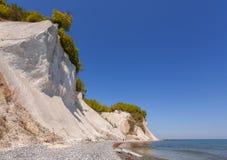 Απότομος βράχος κιμωλίας στο νησί Rugen, Γερμανία Στοκ εικόνα με δικαίωμα ελεύθερης χρήσης