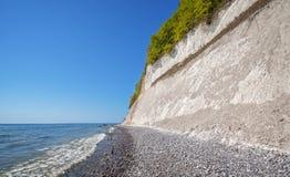 Απότομος βράχος κιμωλίας στο νησί Rugen, Γερμανία Στοκ Εικόνα