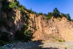 Απότομος απότομος βράχος προσώπου βράχου - φυσικό τοπίο της χώρας Τουρκία Στοκ εικόνα με δικαίωμα ελεύθερης χρήσης