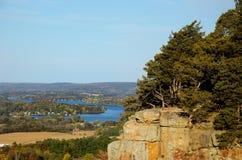 Απότομος βράχος στην κρατική φυσική περιοχή βράχου του Γιβραλτάρ Στοκ Εικόνα