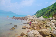 απότομος βράχος της παραλίας του Χογκ Κογκ Στοκ φωτογραφία με δικαίωμα ελεύθερης χρήσης