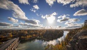 Απότομος βράχος χαλκού άποψης της Σουηδίας Trollhattan στοκ εικόνα με δικαίωμα ελεύθερης χρήσης