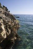 απότομος βράχος adria Στοκ φωτογραφία με δικαίωμα ελεύθερης χρήσης