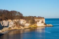 Απότομος βράχος Klint Stevns στη Δανία Στοκ Φωτογραφία