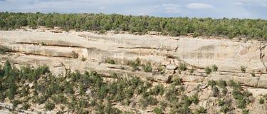 Απότομος βράχος Mesa verde Στοκ Φωτογραφίες